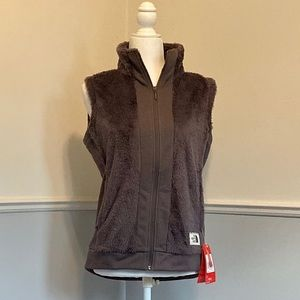 North face furry fleece women's vest